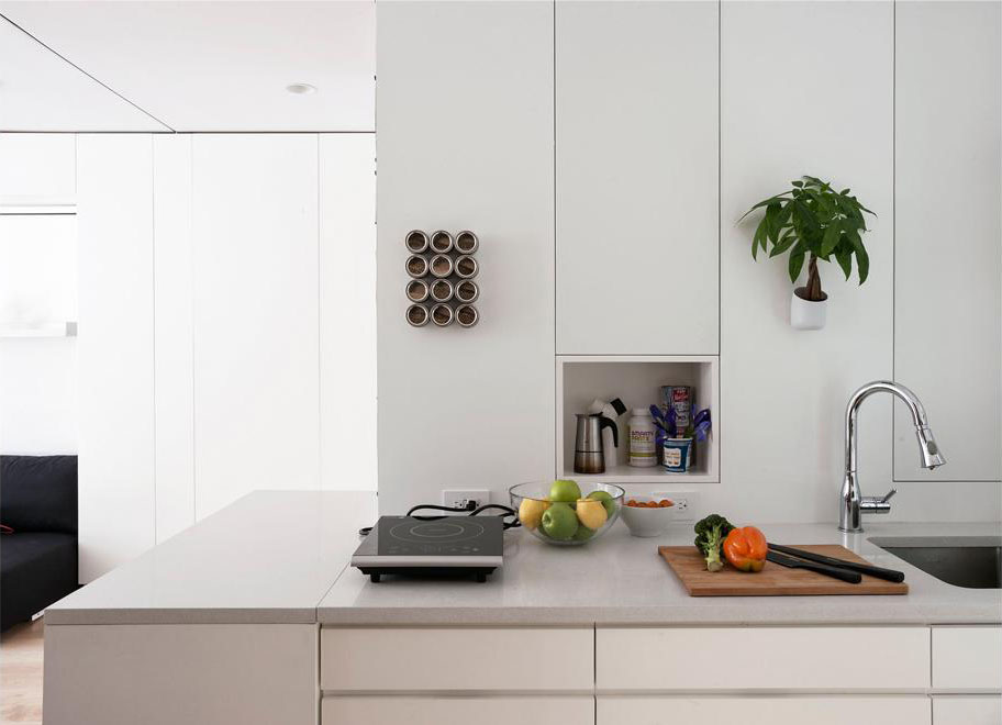 Compact Studio Apartment Kitchen