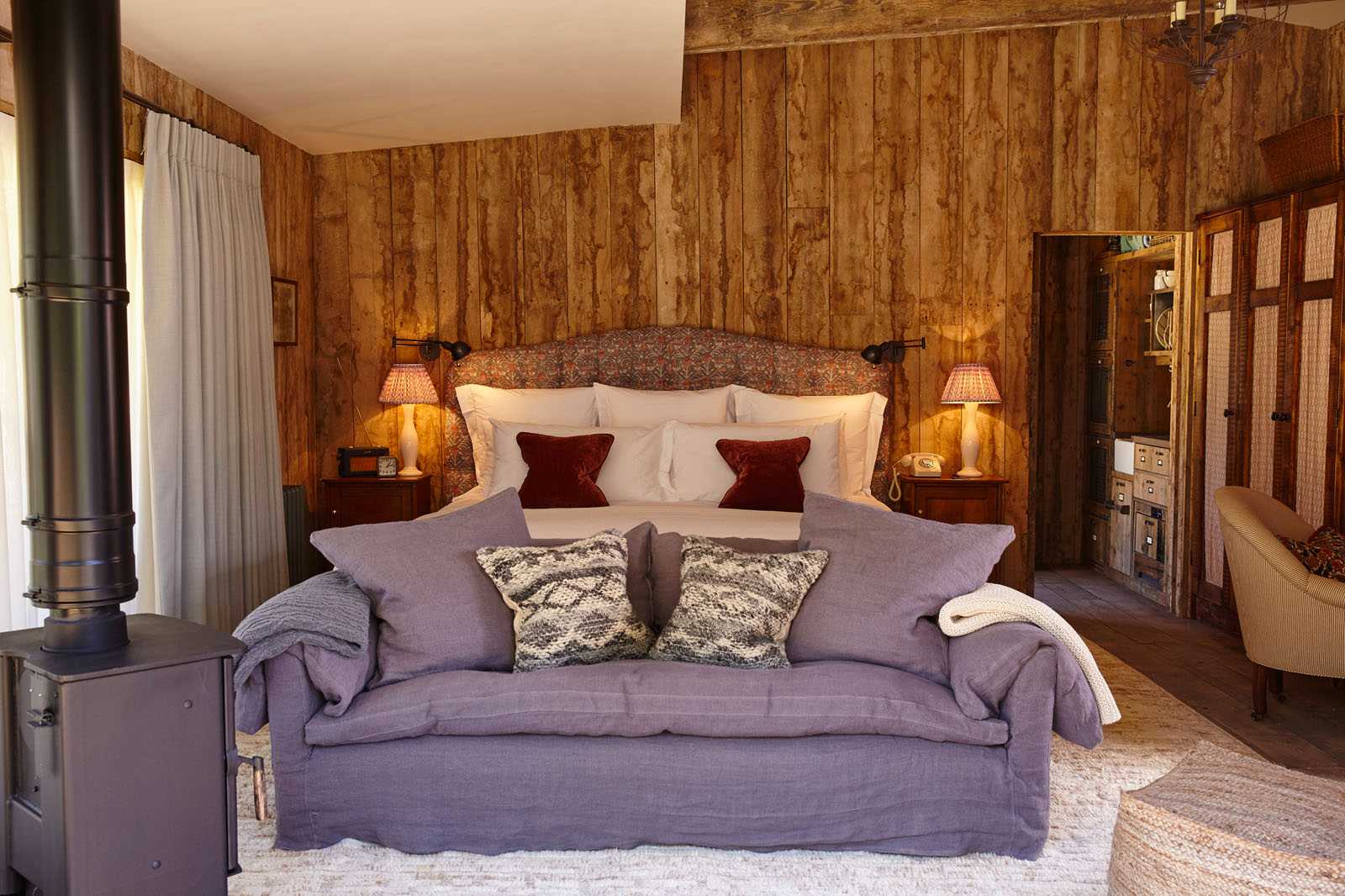 Cozy Country Cabin Bedroom
