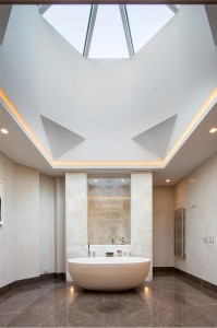 Luxury Bathroom with Skylight