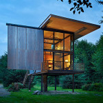 Low-Maintenance Prefab Tiny Steel Country Cabin