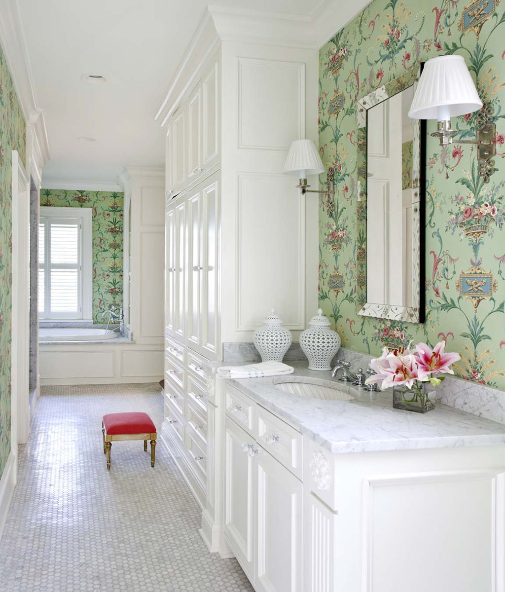 Thibaut Wallpaper Bathroom Jpg Source Girl S Room With Splashes Of Pink IDesignArch Interior Design