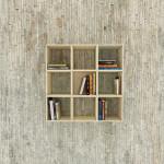 Movable Squaring Bookshelf
