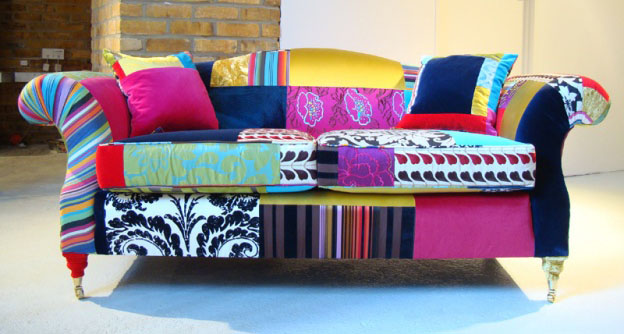 Contemporary Classic Upholstered Sofas With Mixed Fabrics