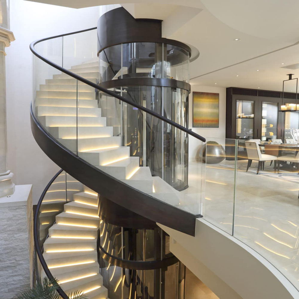 Custom Stone Spiral Staircase