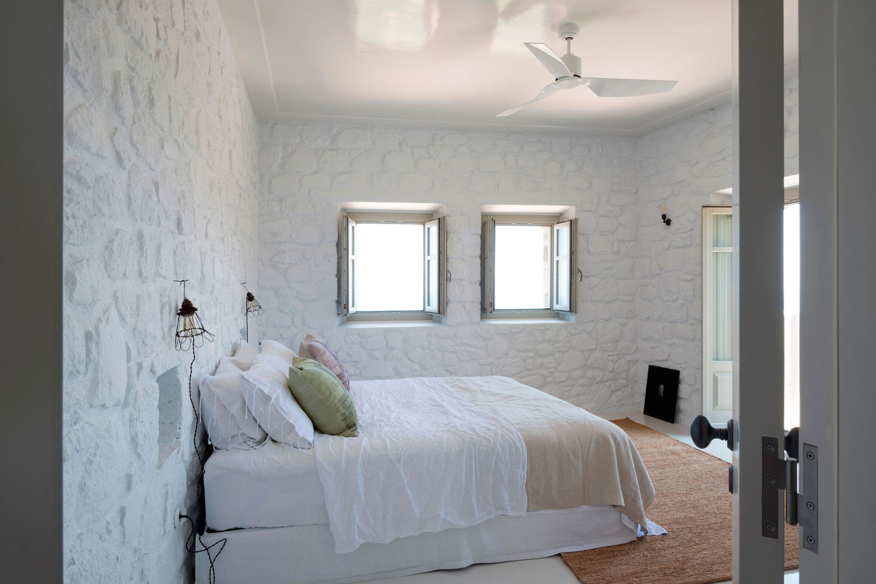 Greek Stone Villa Bedroom
