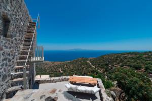 Stone House Terrace on Greek Island Nisyros