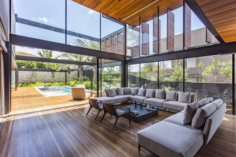 Midcentury Modern Living Room Apartment