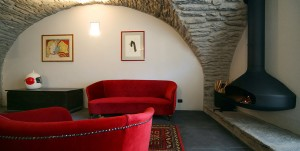 Stone Vaulted Apartment with Fireplace