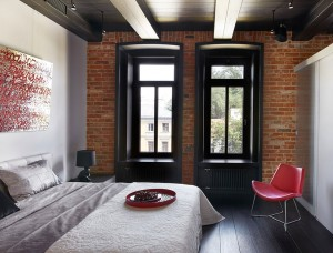 Modern Apartment with Brick Walls
