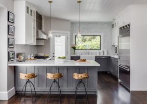 Luxury Small Kitchen with Marble Countertop