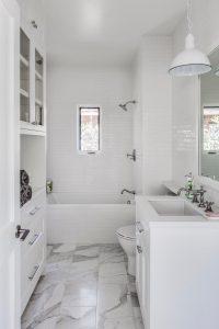 Bright and White Small Bathroom