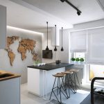 Functional Modern Small Apartment in Moscow with a Stylish Kitchen