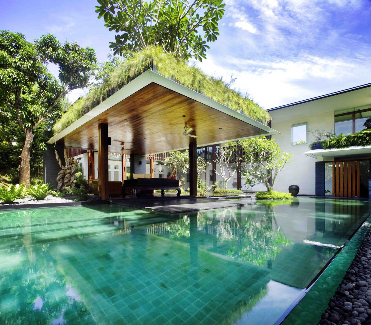 Home Design Ecological Ideas: Private Lush Paradise By Guz Architects
