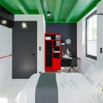 Bold Contrasting Colours Harmonizes Charming Hotel Room