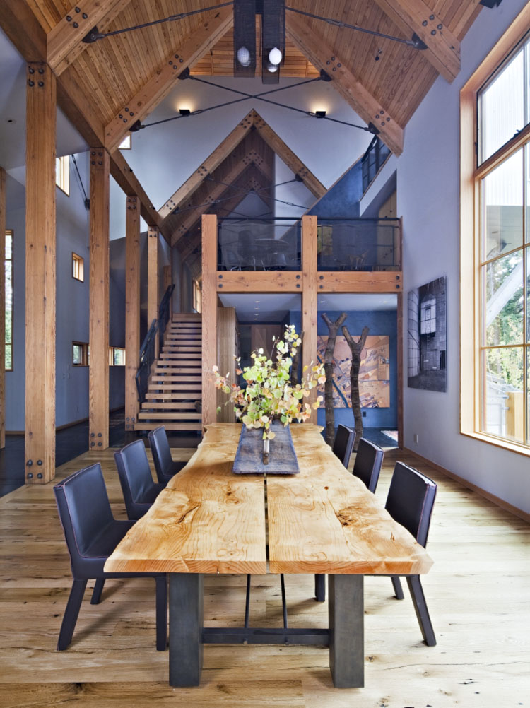 Natural Wood Rustic Dining Table