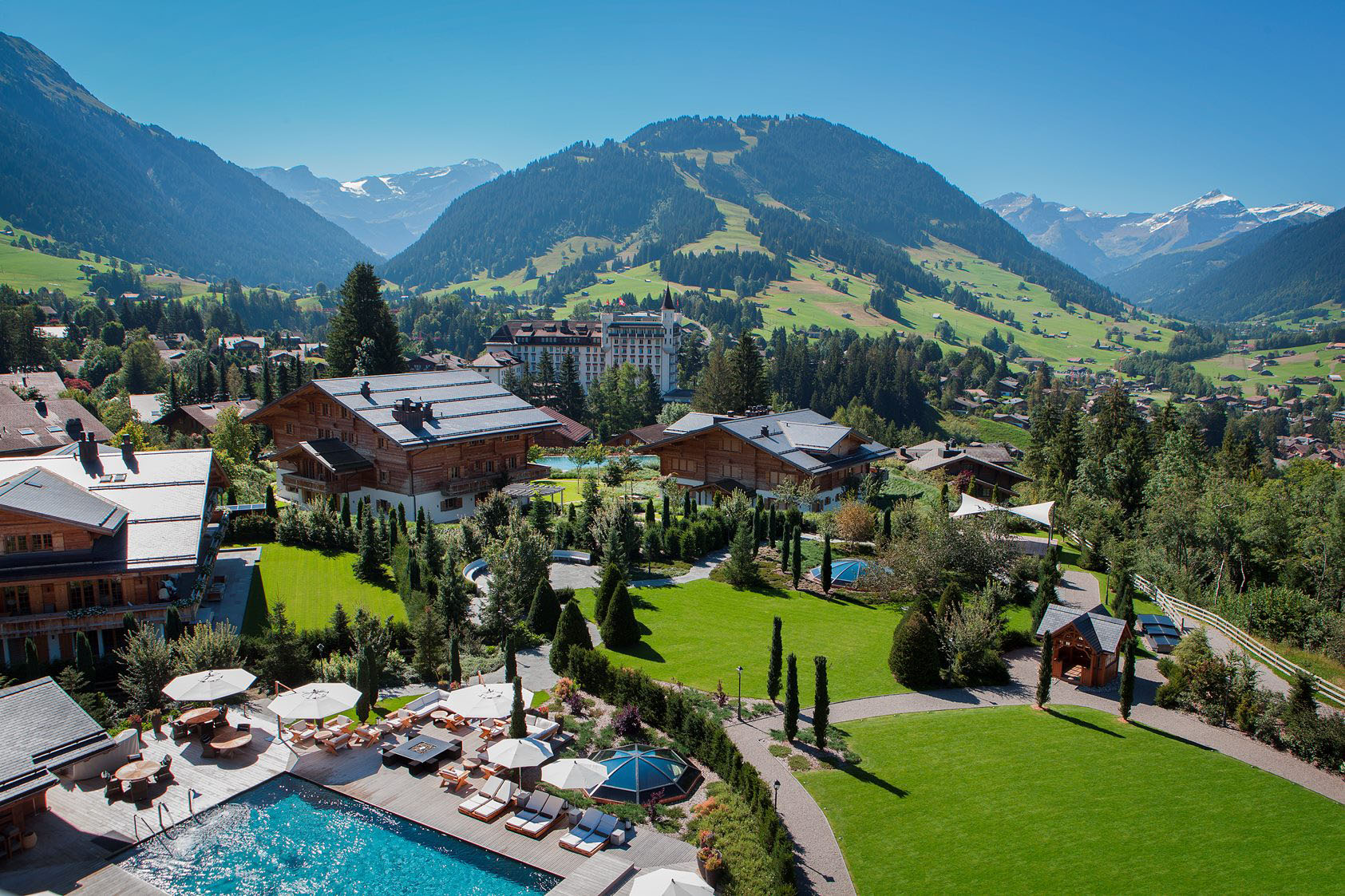 Gstaad Switzerland Alpine Mountain Scenery