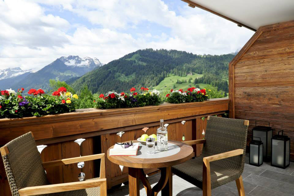 Terrace Balcony with Swiss Mountain View