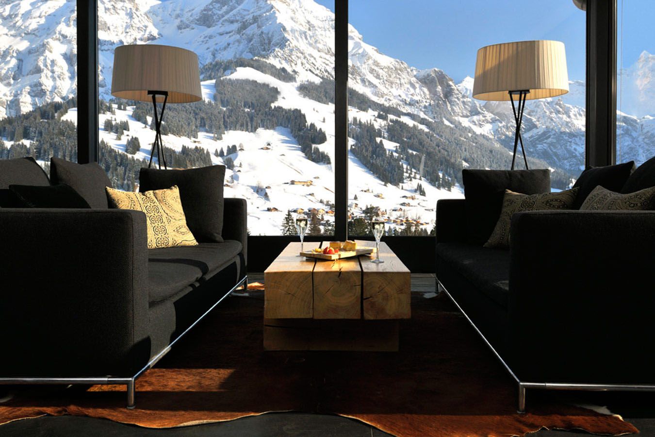 Contemporary Ski Resort Swiss Alps