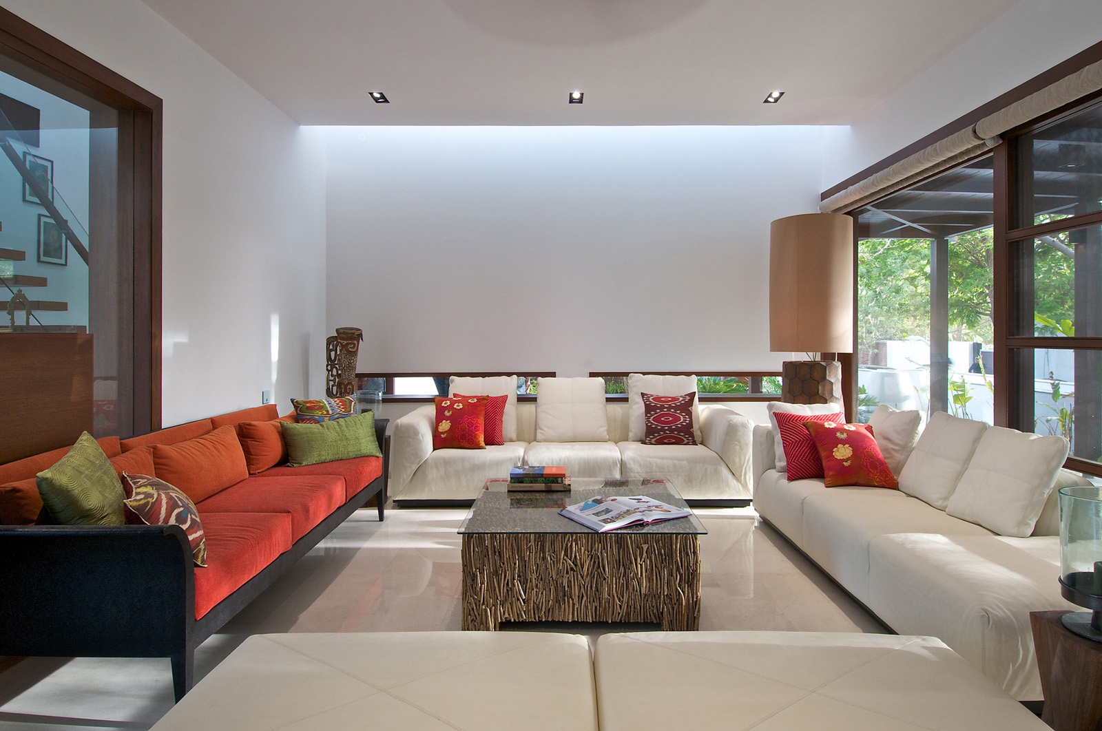 Home Design Ideas Architecture: Timeless Contemporary House In India With Courtyard Zen