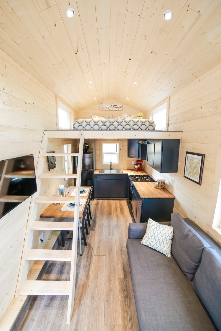 Tiny Dream Home On Wheels With Two Sleeping Lofts Idesignarch Interior Design Architecture