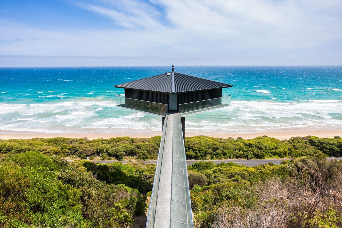 Suspended House Above The Beach Provides Dramatic