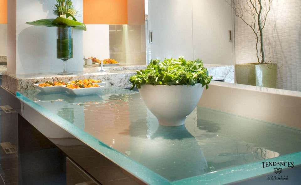 Glass Kitchen Countertops By Thinkglass Idesignarch