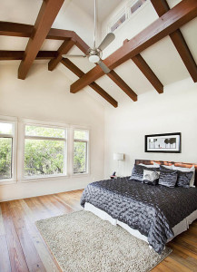 Bedroom with Exposed Timber Beams