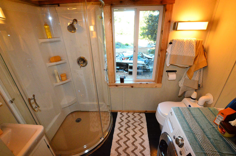 Tiny House Bathroom with Laundry Machine