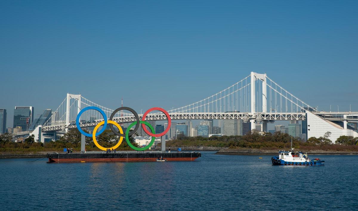 Rainbow Bridge Olympic Rings