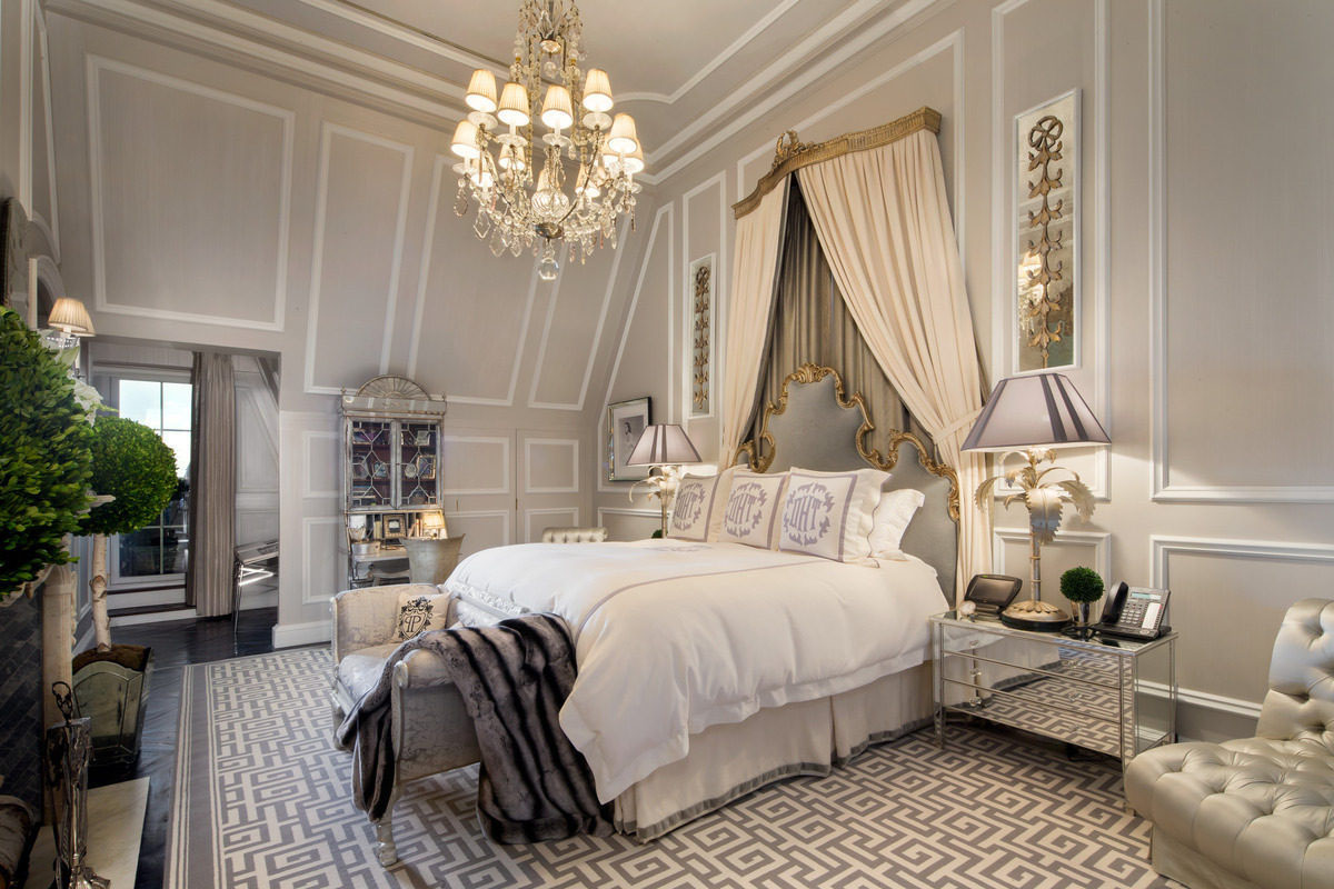 French Inspired Elegant Interior Bedroom Decor