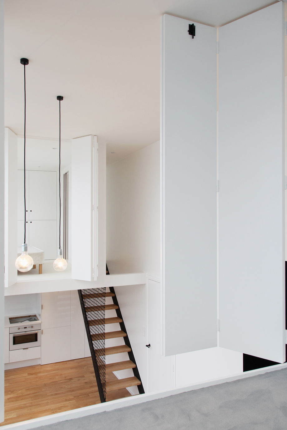 Studio Loft Apartment In Paris With Two Symmetrical
