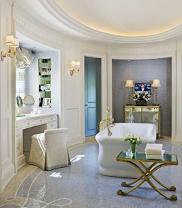 Oval Shaped Luxury Bathroom
