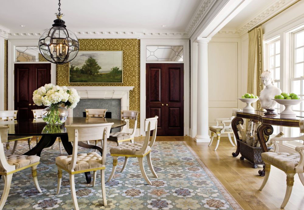 Traditional Style Dining Room. Classic Contemporary Living Room Design
