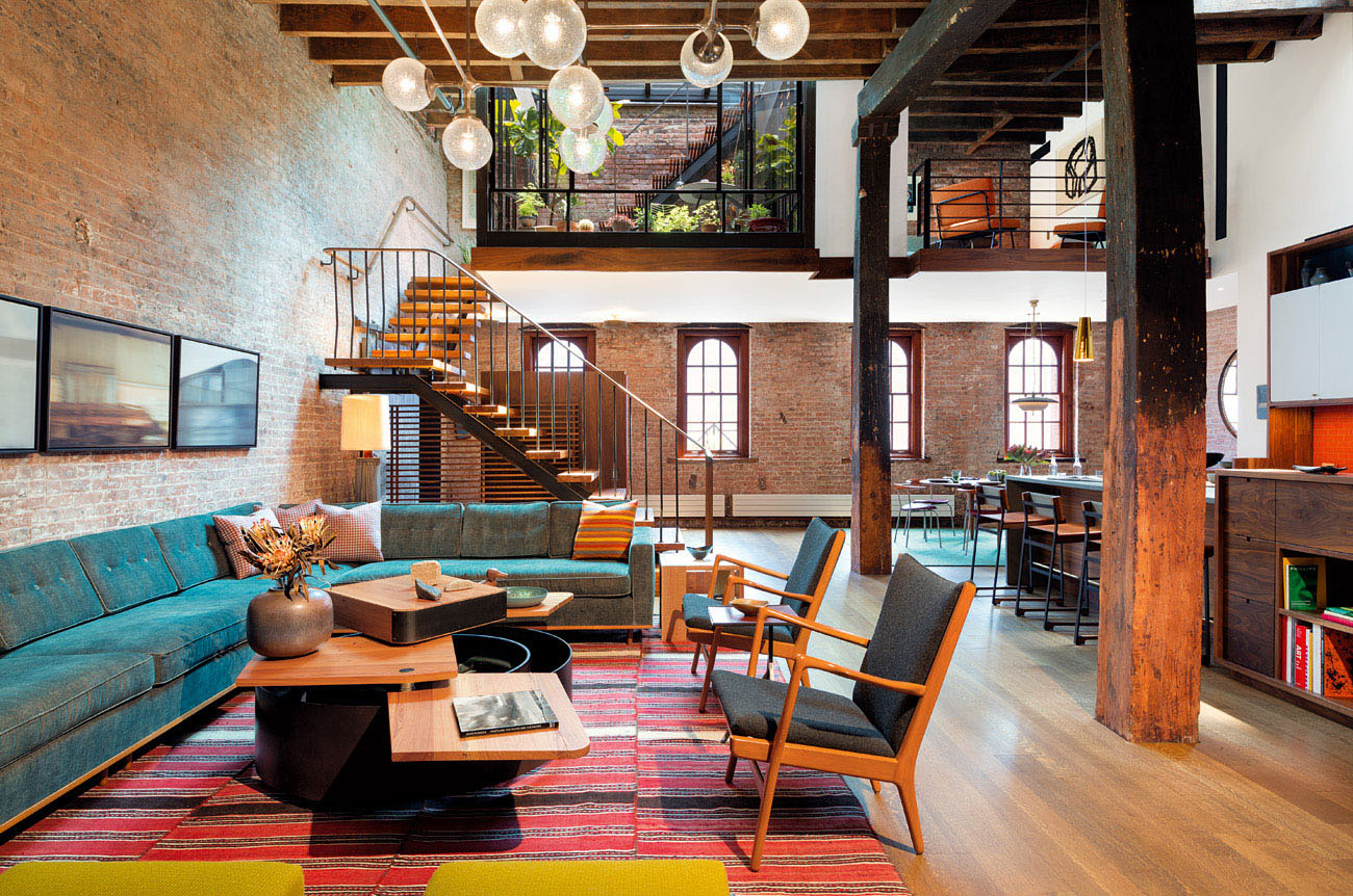 Industrial Loft In Tribeca With Retractable Glass Roof | iDesignArch ...