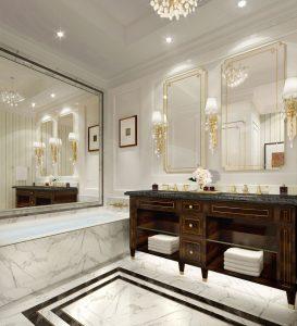 Trump Hotel Suite Marble Bathroom