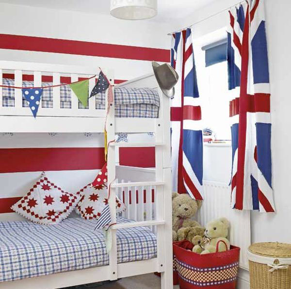 British Theme Bedroom