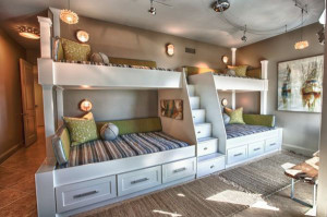 Custom Bunk Beds with Storage Drawers