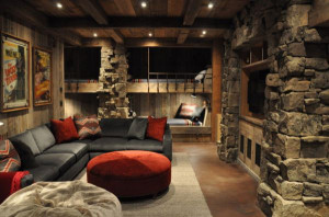 Bunk Bed Design with Rustic Charm