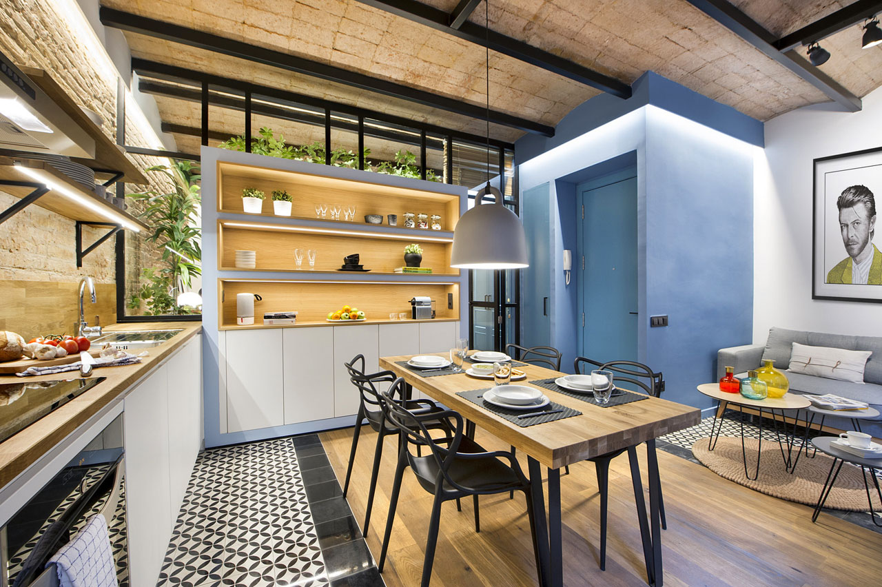 cozy urban beach apartment in barcelona with catalan vault ceilings - How To Vault A Ceiling