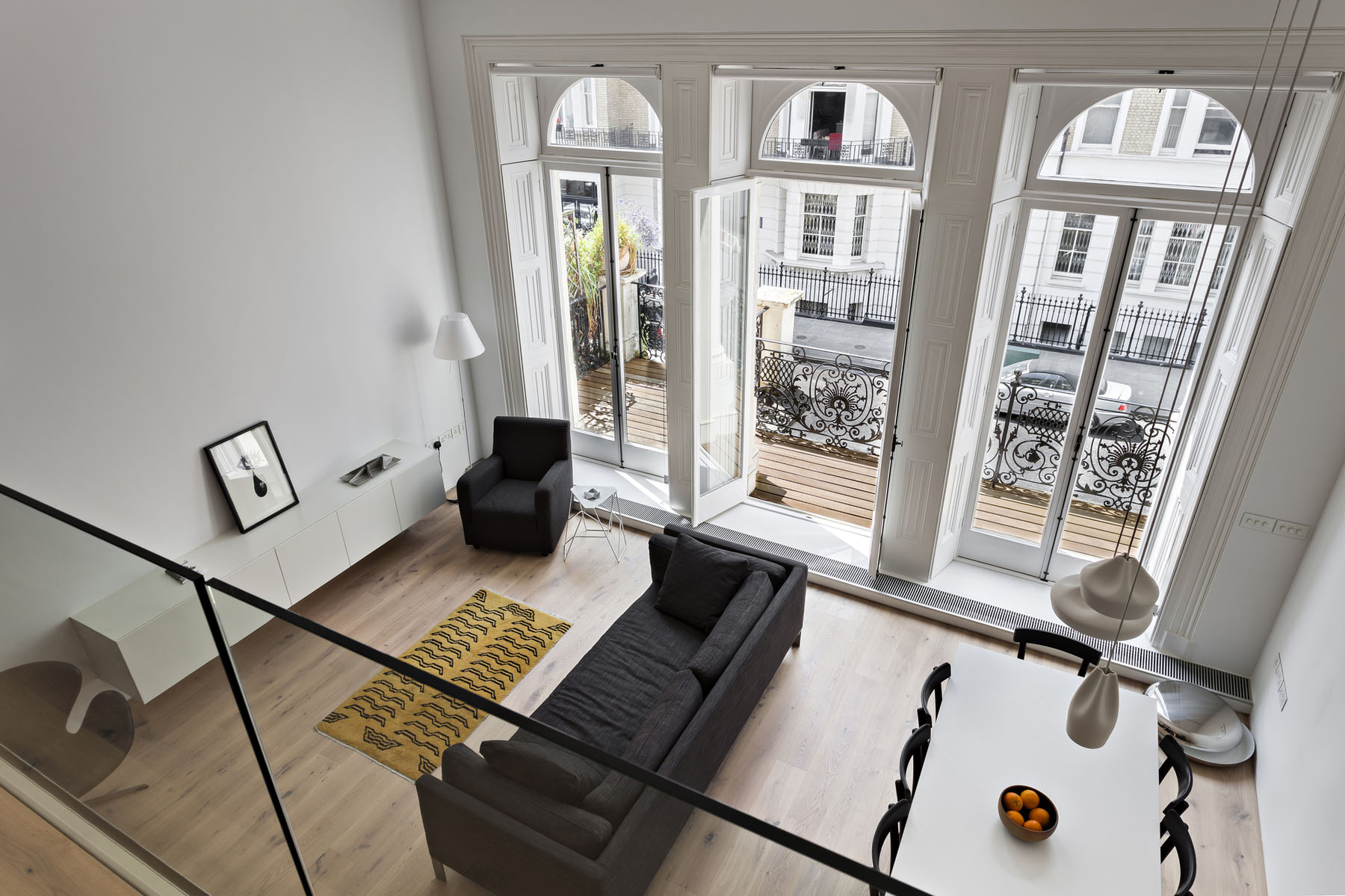 Modern London Apartment with French Windows