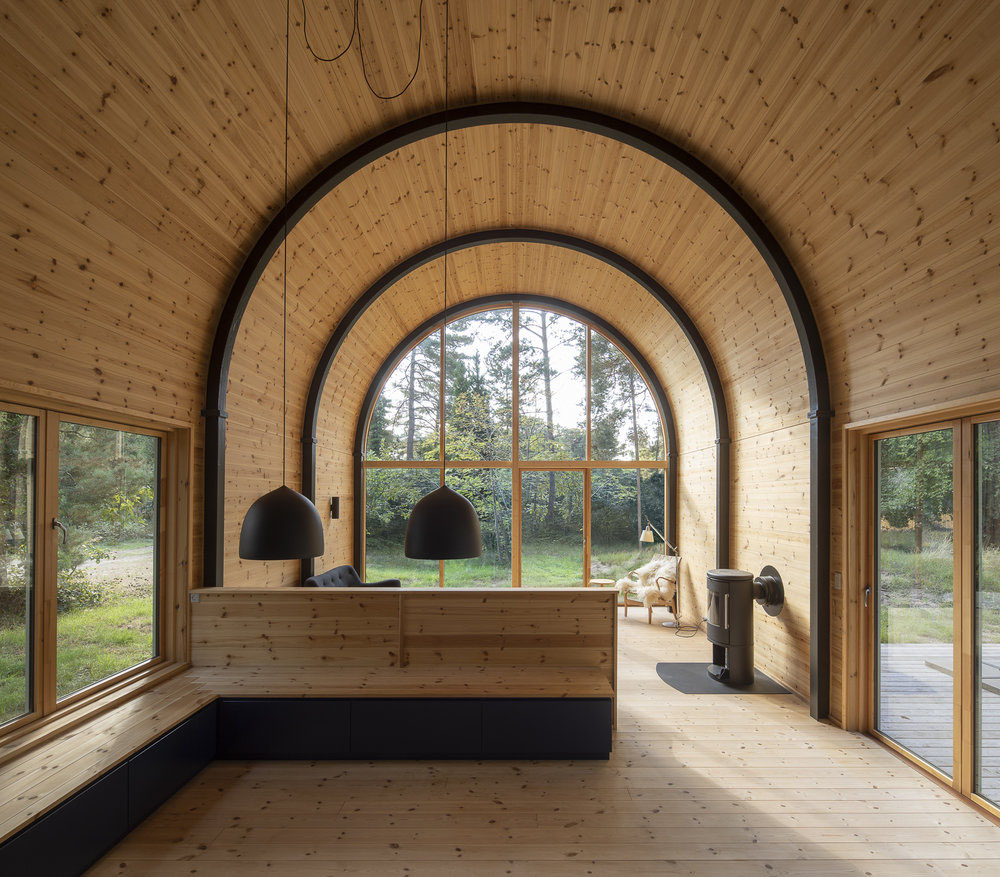 Pine Wood Country Cabin With Vaulted Steel Roof Idesignarch Interior Design Architecture Interior Decorating Emagazine