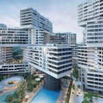 The Interlace Vertical Village Apartment Complex in Singapore by Ole Scheeren