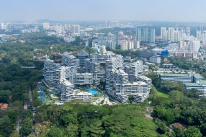 The Interlace Vertical Village Apartment Complex in Singapore