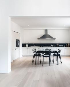 Spacious Modern Kitchen with Hardwood Floor