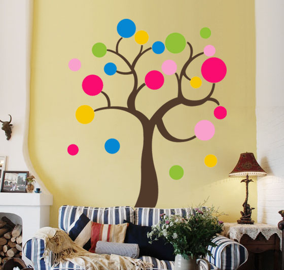 Beautiful Decorate Your Living Room With Wall Decals