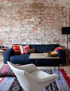 Apartment With Stylish Brick Wall