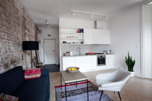 Apartment with Small Modern Kitchen
