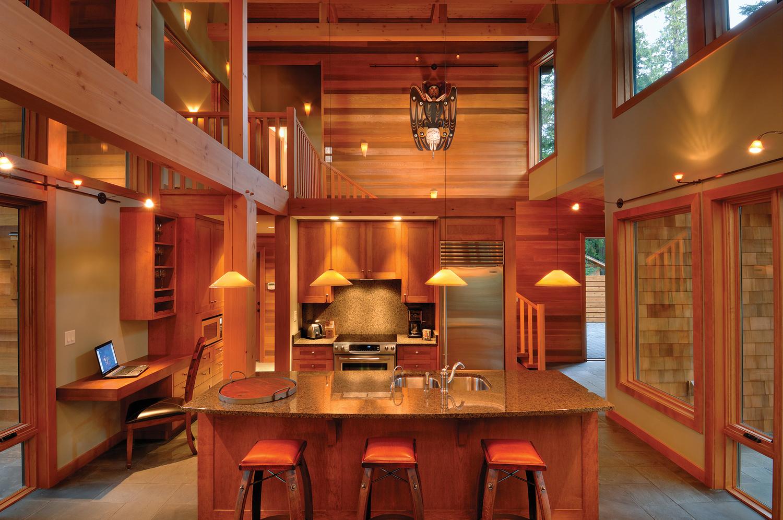 West Coast Style Cedar Kitchen