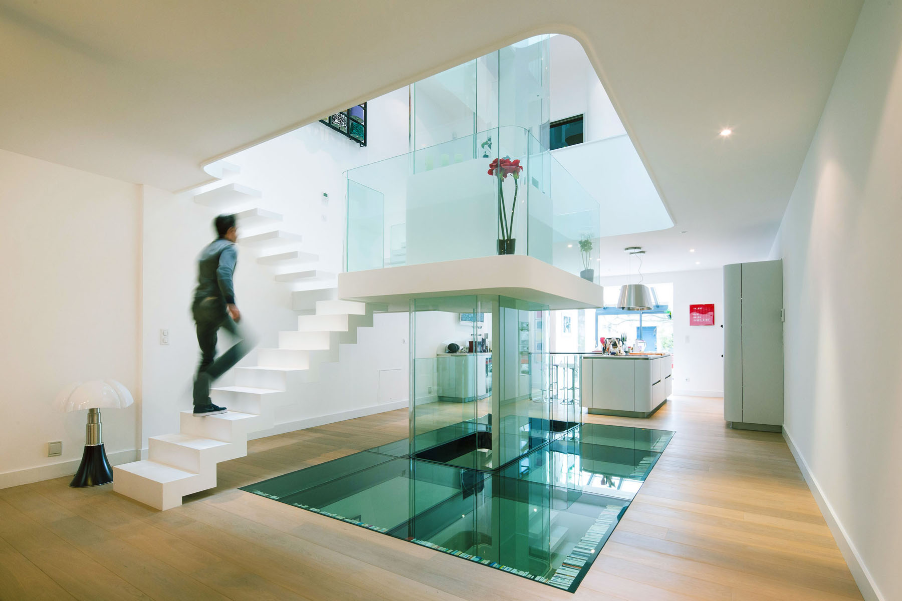 Futuristic Townhouse With Central Glass Axis Idesignarch