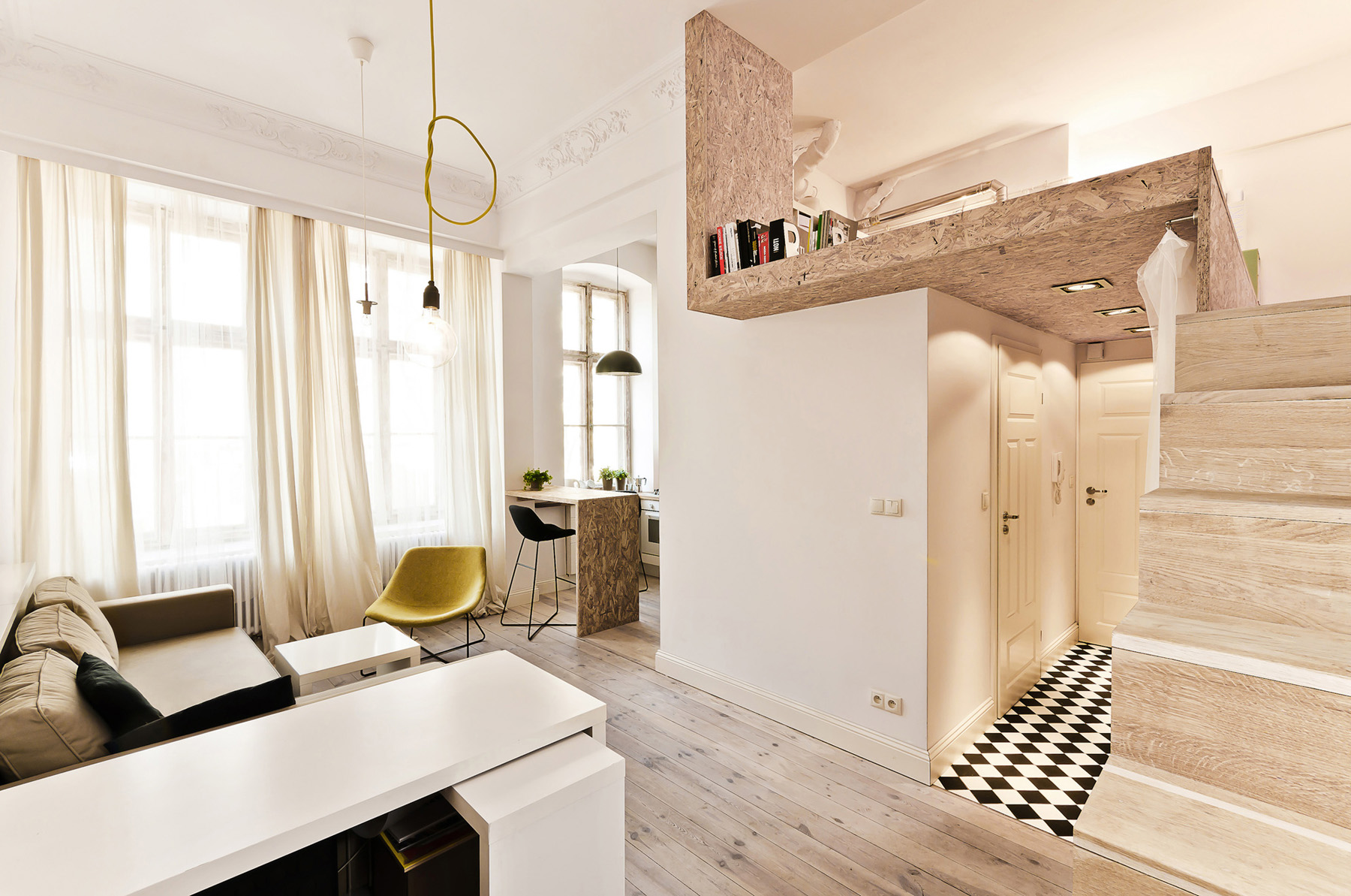 Small Studio Loft Apartment Design